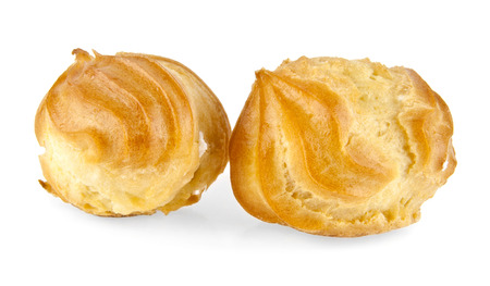 creampuff: eclairs on a white background