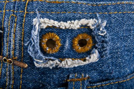 denim fabric: blue denim fabric as background