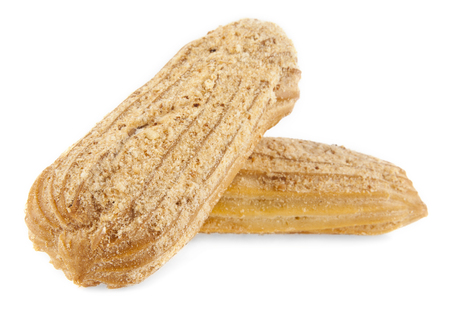 calorific: profiteroles on a white background