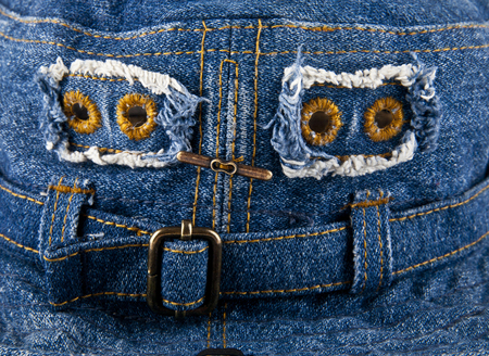 blue denim: blue denim fabric as background