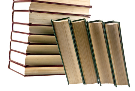 tomes: books are isolated on a white background