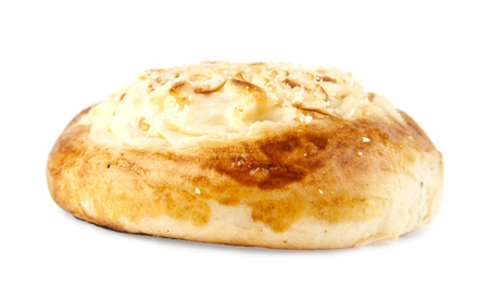 dough nut: cheese bun on a white background Stock Photo