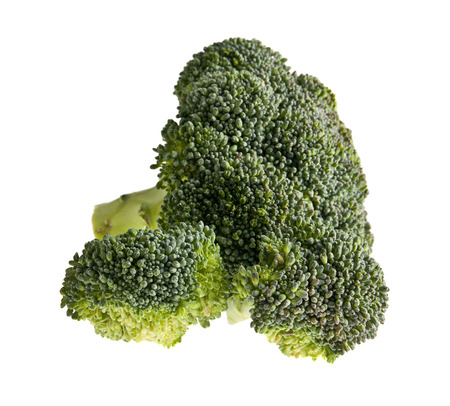 fresh broccoli isolated on a white background closeup