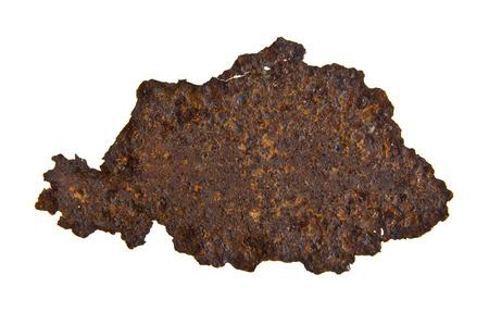 rusty iron isolated on white background Stock Photo