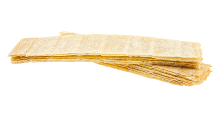 titbits: chips are isolated on a white background