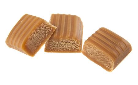 caramel isolated on a white background