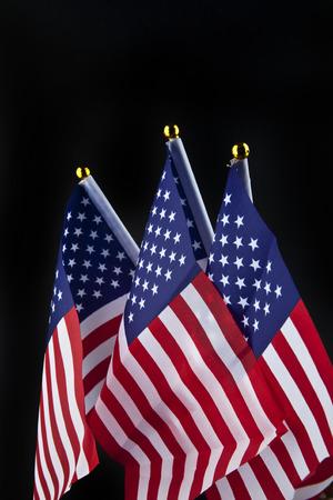 US flag on a black background Stock Photo