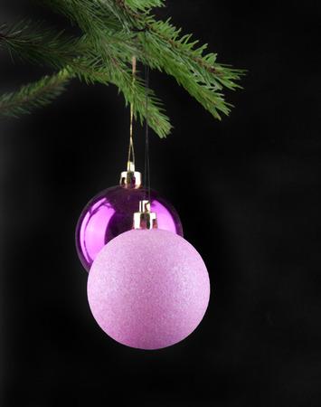 christmas tree ball: Christmas balls on black background