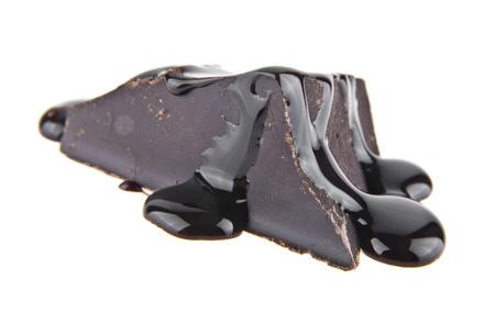 paleolithic: chocolate isolated on white background closeup Stock Photo
