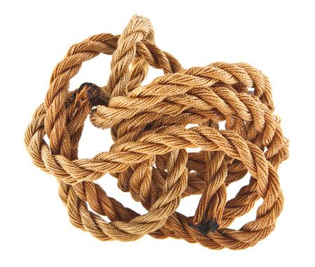 rope isolated on white background closeup Stock Photo
