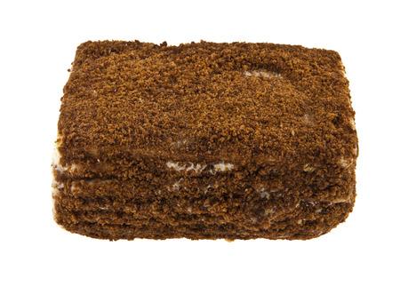 cake isolated on white background closeup