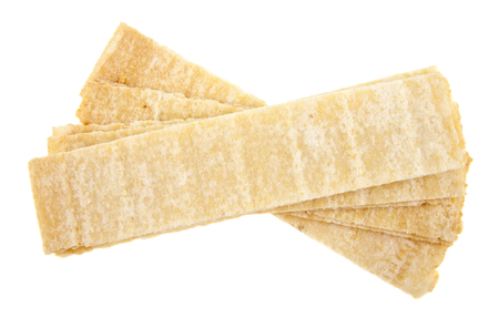 chips isolated on white background closeup