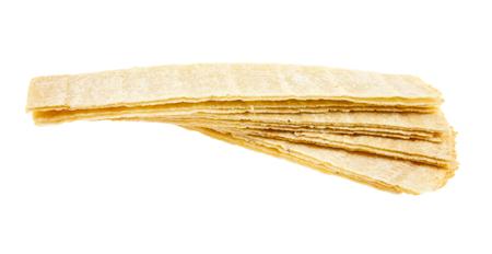 chips aisladas sobre fondo blanco de cerca