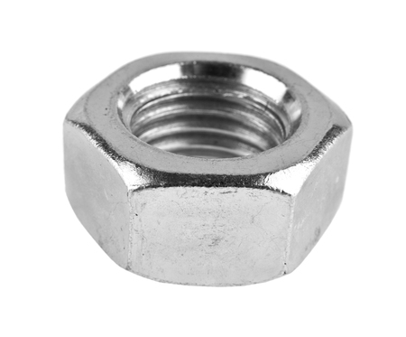 metal nut isolated on white background 写真素材
