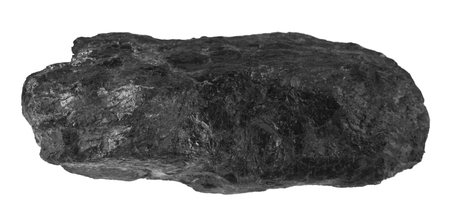 coal isolated on white background Stock Photo