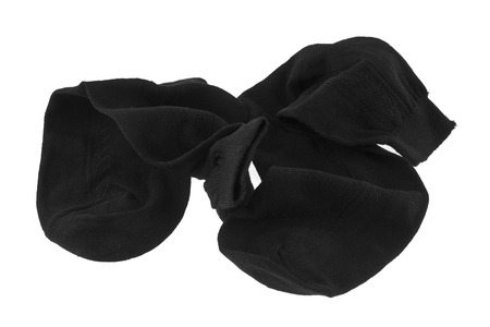 black socks isolated on white background Banque d'images