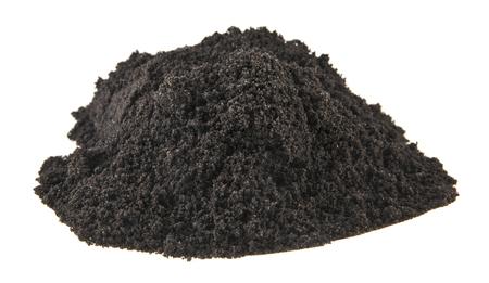 soil isolated on white background Stock Photo