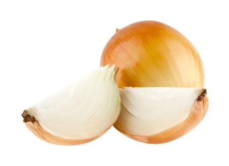chopped onion isolated on white background