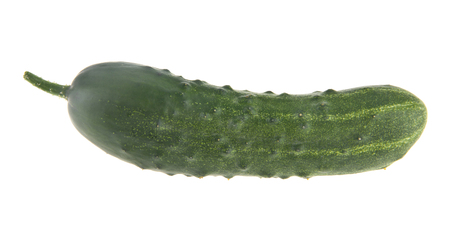 green fresh cucumbers isolated on white background. As an element of packaging design 版權商用圖片