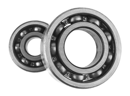metal bearings isolated on white background