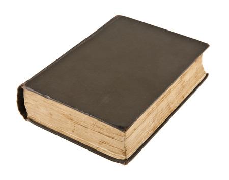 altes Buch isoliert auf weißem Hintergrund Standard-Bild