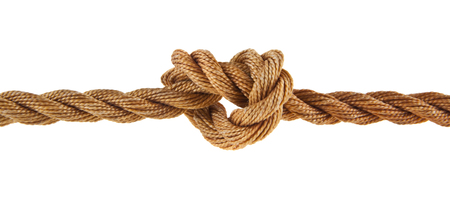 rope isolated on white background Imagens