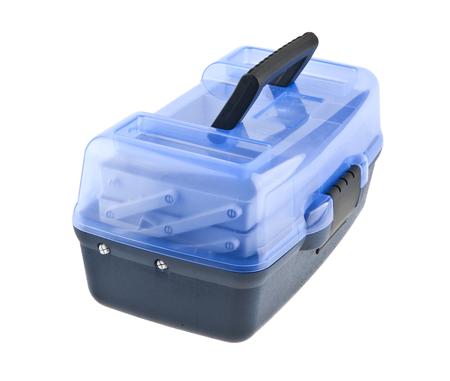 plastic tool box isolated on white background