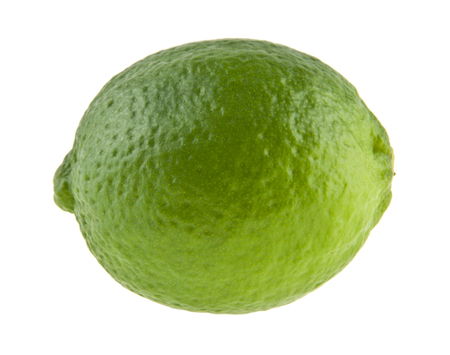 lime isolated on white background closeup