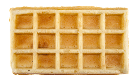 waffles isolated on white background closeup