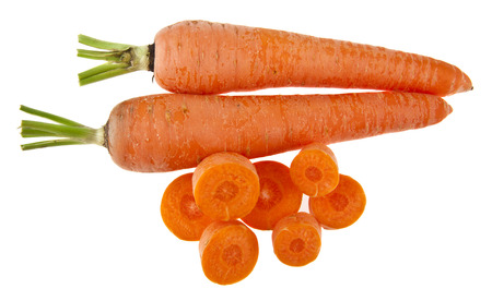 carrot isolated on white background closeup 스톡 콘텐츠