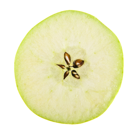 green apple isolated on white background closeup