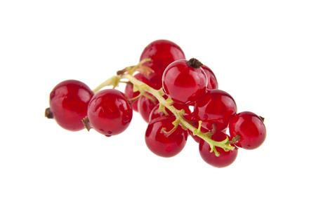 Red currants isolated on white background Stock fotó