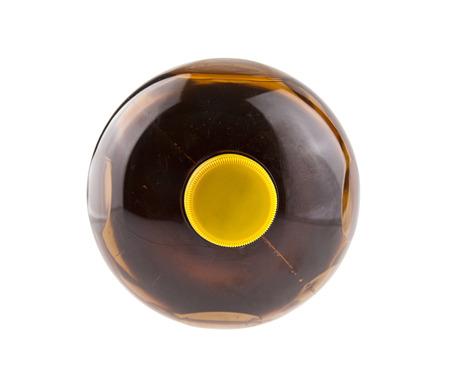 plastic bottle isolated on white background closeup