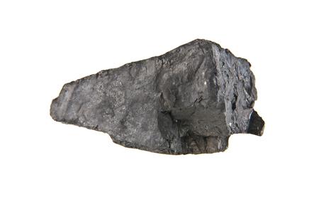 coal isolated on white background closeup Imagens