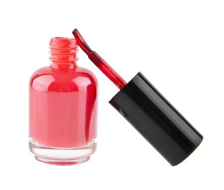red nail Polish isolated on white background 写真素材