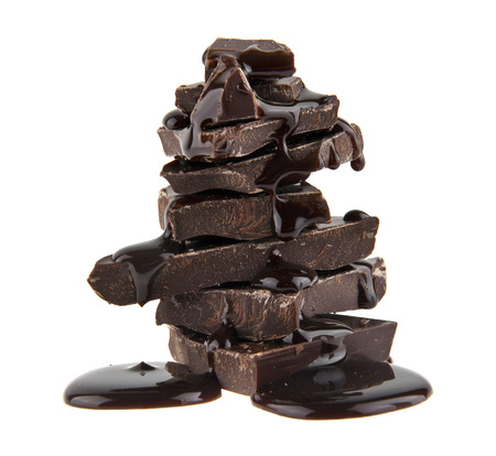 chocolate isolated on white background closeup Reklamní fotografie