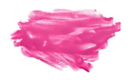 pink nail Polish isolated on white background Stock Photo