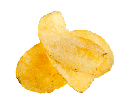 chips isolated on white background Imagens