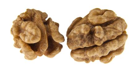 walnut kernels isolated on white background Imagens