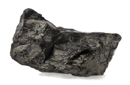 coal isolated on white background Standard-Bild