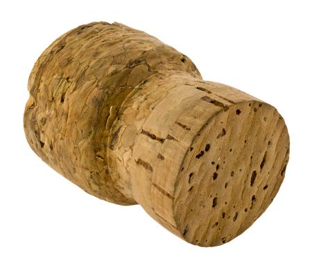 Bottle cork isolated on white background