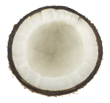 Coconut isolated on a white background. View from above. Stockfoto