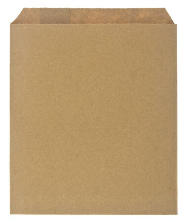 Brown paper envelope isolated on white background.
