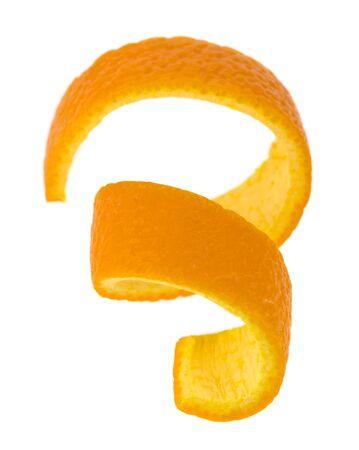 Orangefarbene Haut isoliert auf weißem Hintergrund. Standard-Bild