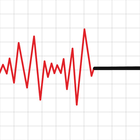polygraph: Lie detector test icon. Abstract diagram. Illustration