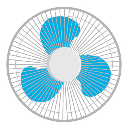 Fan isolated on white background. Vector illustration
