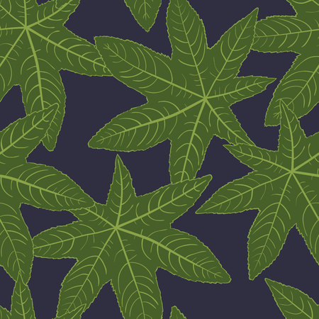 floral: Beautiful leaves seamless pattern