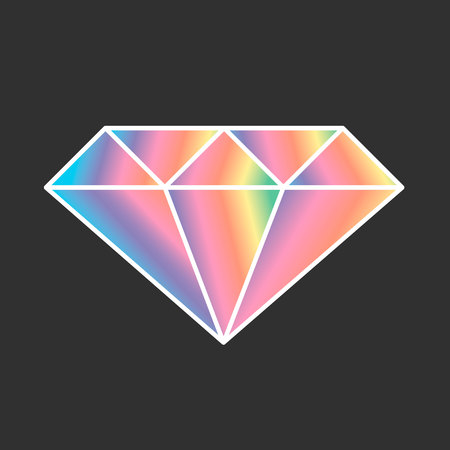 pixel art maker rainbow diamond