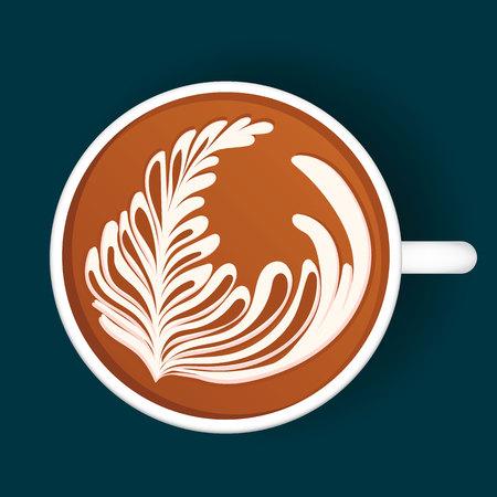Isolated Latte Art. White Cup. Vector illustration Stock fotó - 87326684