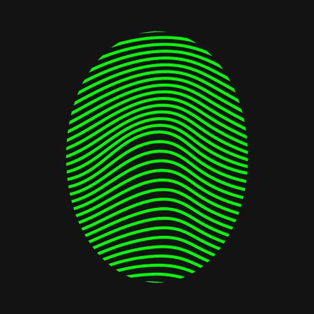 ide: Green fingerprint. Thumbprint. Vector illustration Illustration